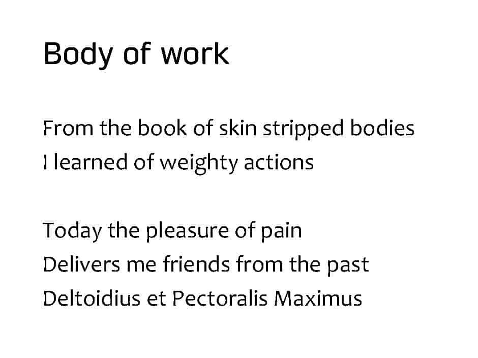 """""""Body of work"""" by Rob Joynson"""