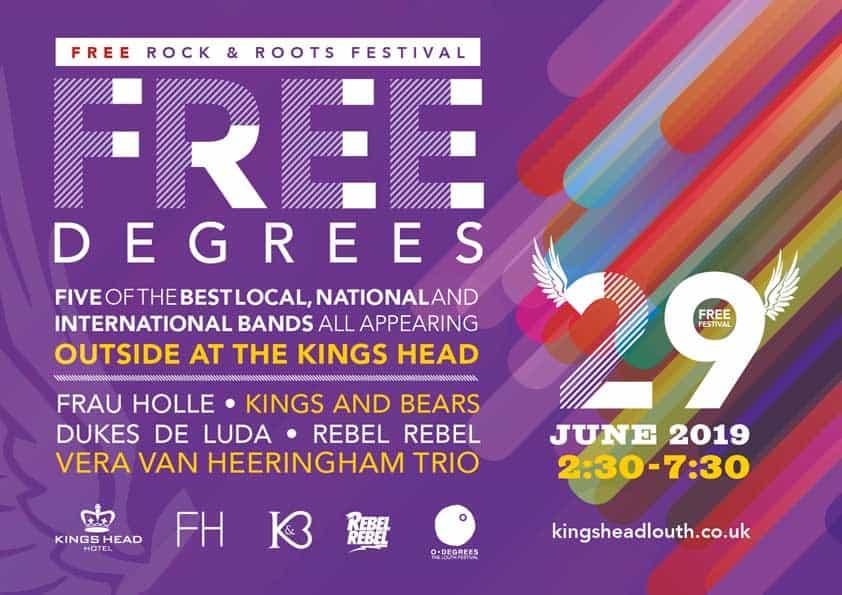 Free degrees music outside Kings Head
