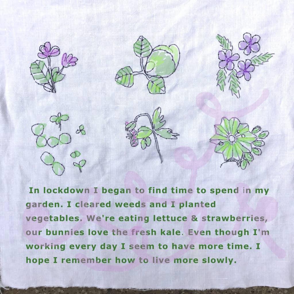 Nicki Jarvis stitched garden