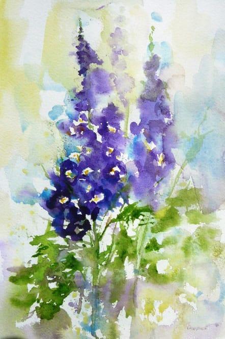 delphiniums by Bridget Jones