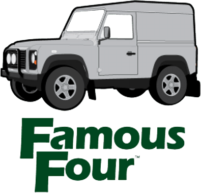 Famous Four range rover and land rover