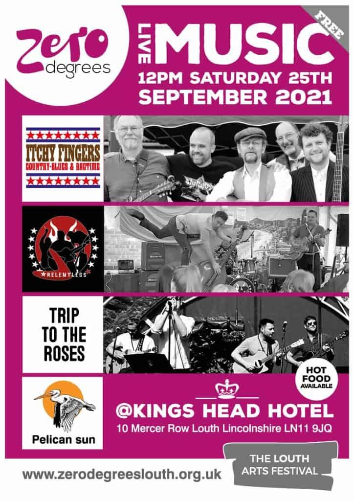 Live music outside at the Kings Head with 4 great bands - from noon till about 6pm.