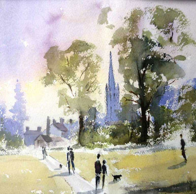 Watercolour workshop bridget jones
